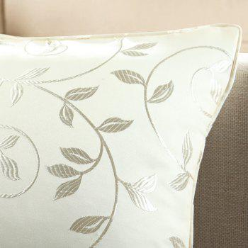 Gyrohome Jacquard Flower Leafs  Cushion Covers Pillows - WHITE W17.5 INCH * L17.5 INCH