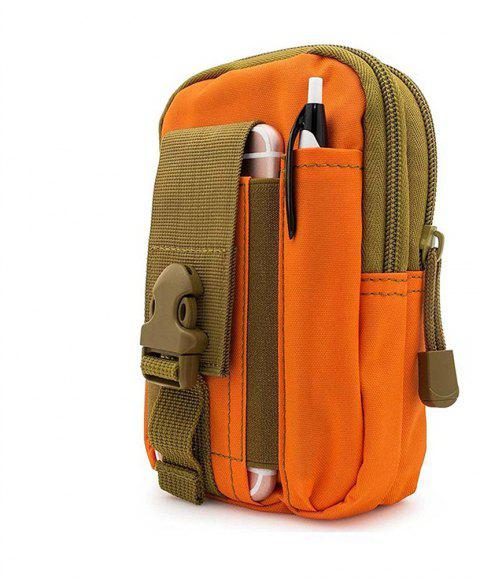 Multipurpose Tactical Cover Smartphone Holster EDC Security Pack Carry Case Pouch Belt Money Pocket - ORANGE