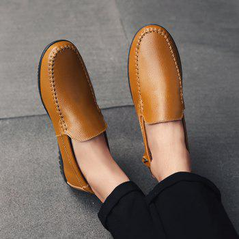 Men Casual Business Peas Shoes Loafers Fashion Outdoor Spring Sport Breathable Sneakers - YELLOW 39