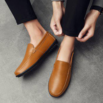 Men Casual Business Peas Shoes Loafers Fashion Outdoor Spring Sport Breathable Sneakers - YELLOW 38