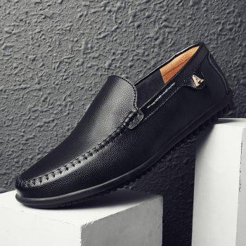 Men Casual Business Peas Shoes Loafers Fashion Outdoor Spring Sport Breathable Sneakers - BLACK 47