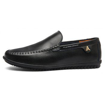 Men Casual Business Peas Shoes Loafers Fashion Outdoor Spring Sport Breathable Sneakers - BLACK 39