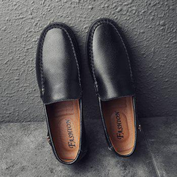Men Casual Business Peas Shoes Loafers Fashion Outdoor Spring Sport Breathable Sneakers - BLACK 40
