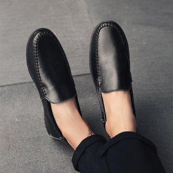 Men Casual Business Peas Shoes Loafers Fashion Outdoor Spring Sport Breathable Sneakers - BLACK 38