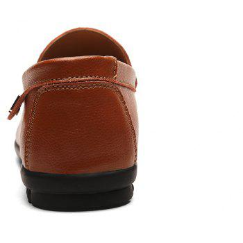 Men Casual Business Peas Shoes Loafers Fashion Outdoor Spring Sport Breathable Sneakers - DEEP BROWN 37