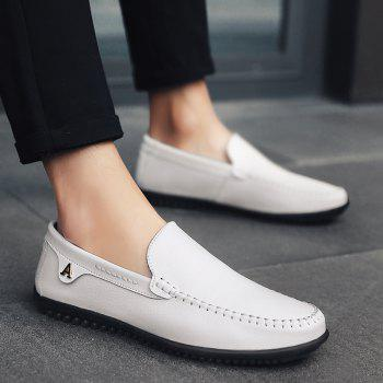 Men Casual Business Peas Shoes Loafers Fashion Outdoor Spring Sport Breathable Sneakers - WHITE 45