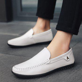 Hommes Casual Business Pois Chaussures Mocassins Mode En Plein Air Printemps Sport Sneakers Respirant - Blanc 46