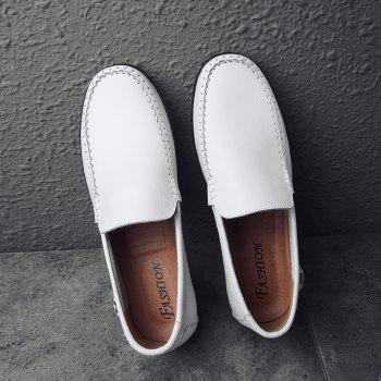 Men Casual Business Peas Shoes Loafers Fashion Outdoor Spring Sport Breathable Sneakers - WHITE 44