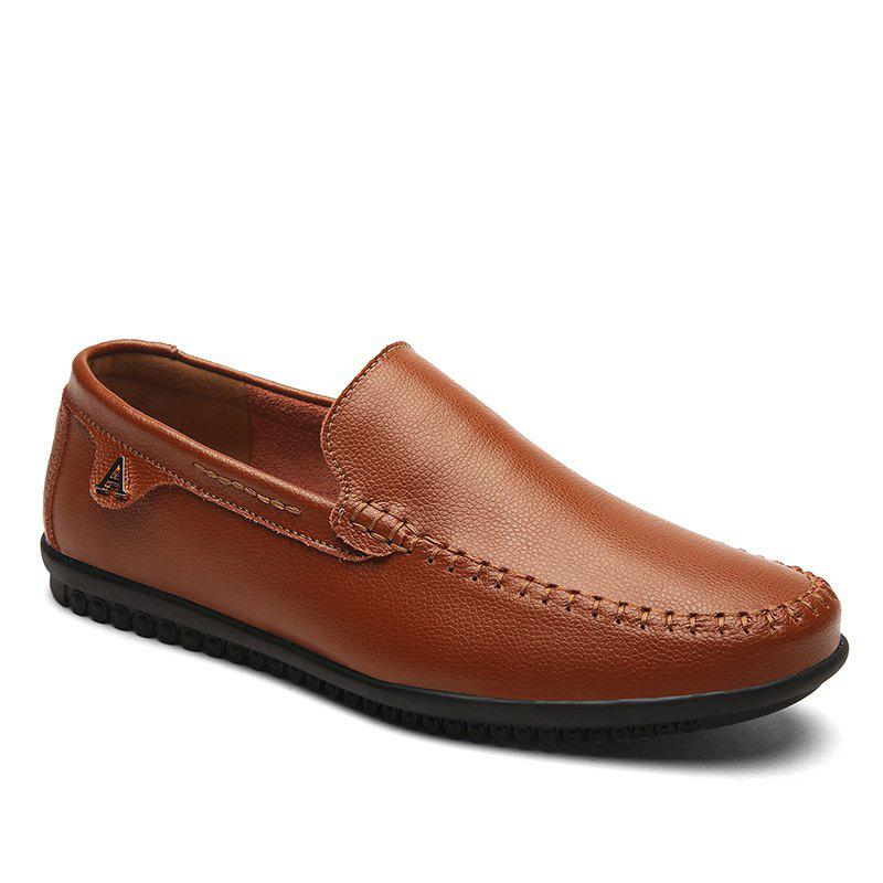 Hommes Casual Business Pois Chaussures Mocassins Mode En Plein Air Printemps Sport Sneakers Respirant - marron foncé 47