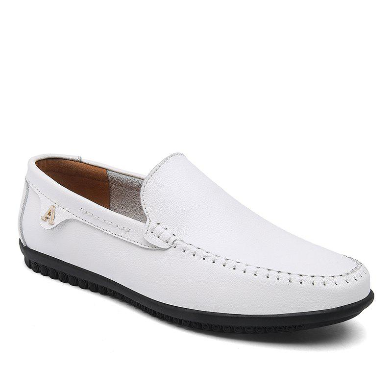 Hommes Casual Business Pois Chaussures Mocassins Mode En Plein Air Printemps Sport Sneakers Respirant - Blanc 42