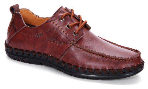 Hommes Loisirs Occasionnels Business Pois Chaussures Mocassins Mode En Plein Air Sport Respirant Sneakers - Rouge vineux 44