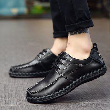 Men Leisure Casual Business Peas Shoes Loafers Fashion Outdoor Sport Breathable Sneakers - BLACK 43