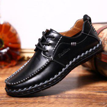 Men Leisure Casual Business Peas Shoes Loafers Fashion Outdoor Sport Breathable Sneakers - BLACK 41