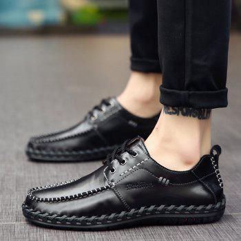 Men Leisure Casual Business Peas Shoes Loafers Fashion Outdoor Sport Breathable Sneakers - BLACK 39