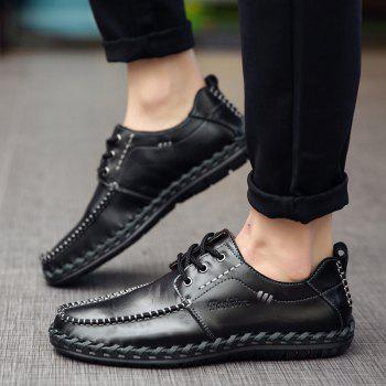 Men Leisure Casual Business Peas Shoes Loafers Fashion Outdoor Sport Breathable Sneakers - BLACK 40
