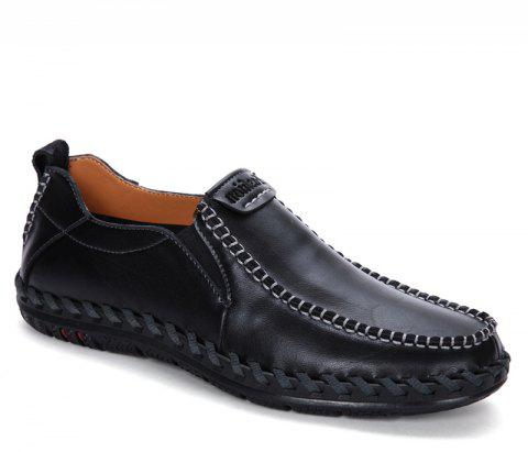 Men Leisure Casual Business Peas Shoes Loafers Fashion Outdoor Spring Sport Breathable Sneakers - BLACK 38