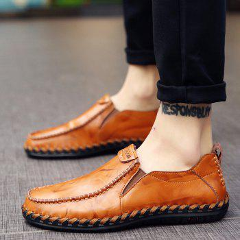 Men Leisure Casual Business Peas Shoes Loafers Fashion Outdoor Spring Sport Breathable Sneakers - YELLOW 38