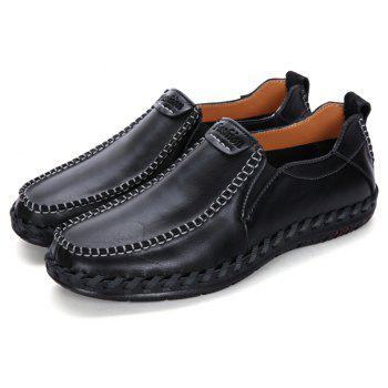 Men Leisure Casual Business Peas Shoes Loafers Fashion Outdoor Spring Sport Breathable Sneakers - BLACK 44