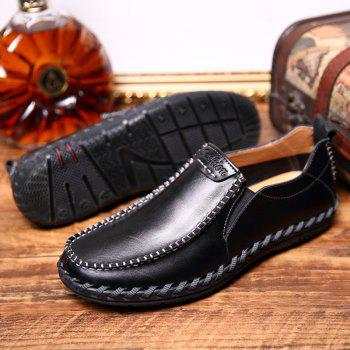 Men Leisure Casual Business Peas Shoes Loafers Fashion Outdoor Spring Sport Breathable Sneakers - BLACK 42