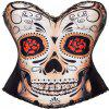 Eastic Black Women  's Sexy Punk Corset Exotique - Noir 2XL