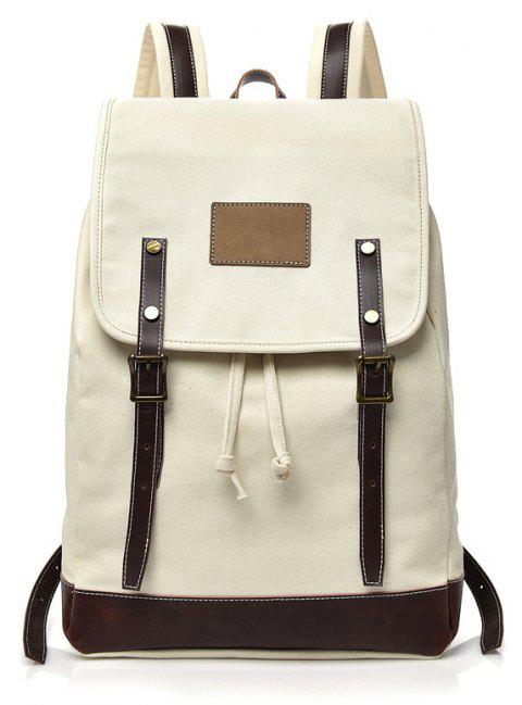 2019 Simple Canvas Trendy Fashion Backpack In BEIGE  aa47ea2906893