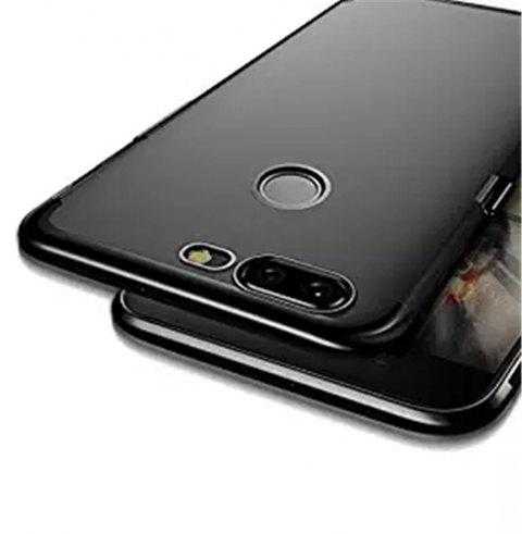 Cover Case for One Plus 5T Metal Electroplating Technology TPU Soft Silicone - BLACK