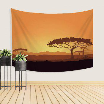 Cartoon Natural Scenery Tapestry Wall Hanging Decorated with Sofa Bedroom Blanket Tablecloth - COLORMIX W39.4INCH*L59.1INCH