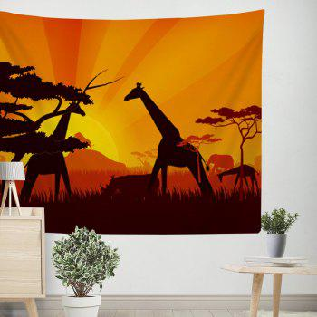 Giraffe Tapestry Wall Hanging  in the Forest Adorn the Bedspread Beaches - COLORMIX W39.4INCH*L59.1INCH