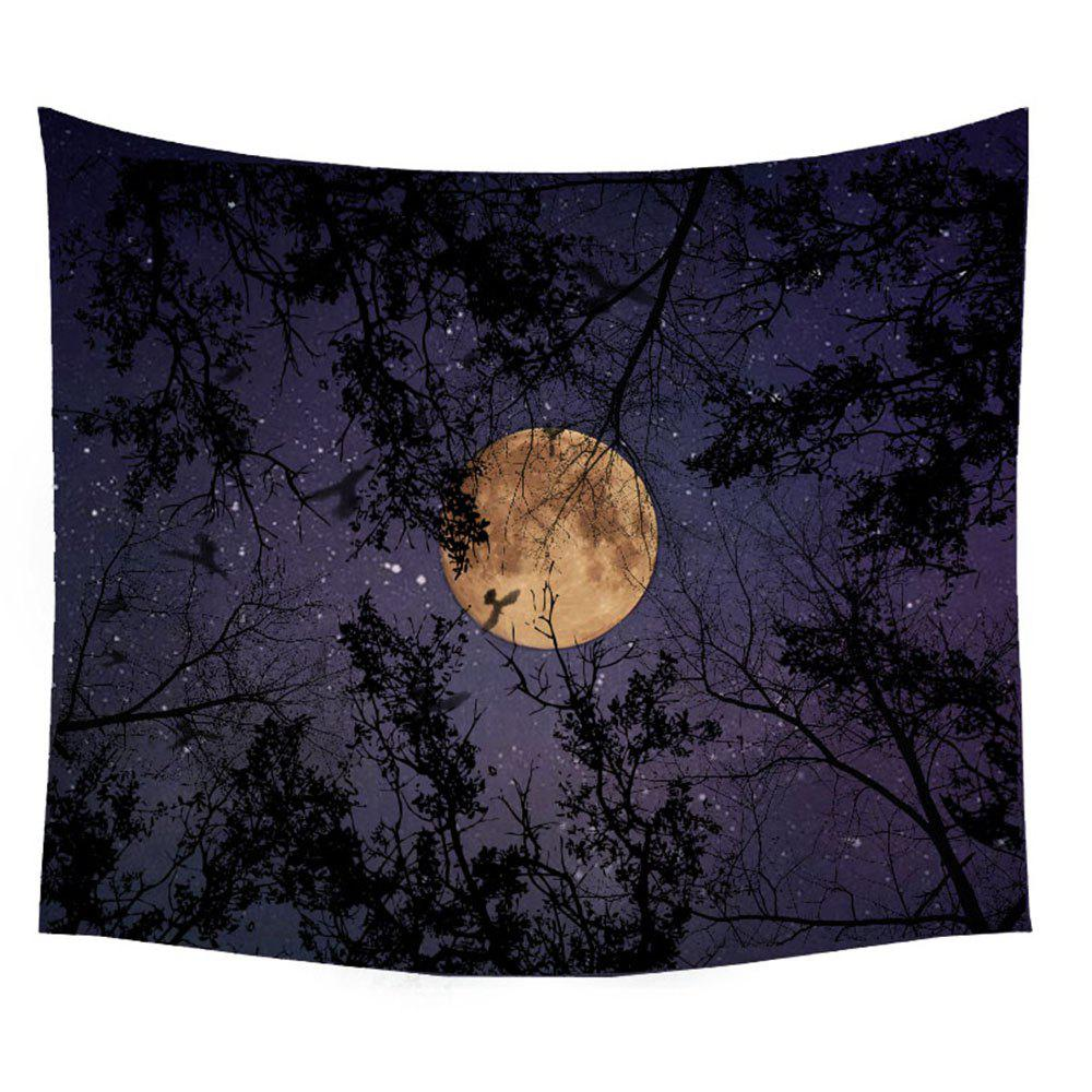 Wolf Tapestry Wall Hanging  of the Forest at Night Adornment Sofa Blanket Tablecloth Bedspread - COLORMIX W39.4INCH*L59.1INCH