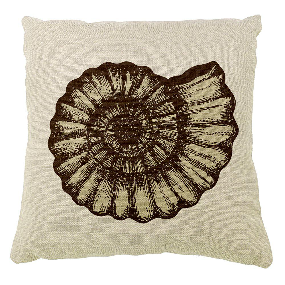 Marine Big Conch Pattern Pillowcase - COLORMIX 16INCH X16INCH