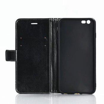 Cover Case for OnePlus 5 Lychee Striped Back Button Leather - BLACK