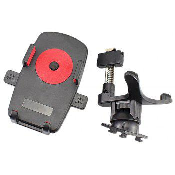 Car Use Phone Holder Air Outlet Rotatable Phone Holder Clamp Type Mount - RED/BLACK