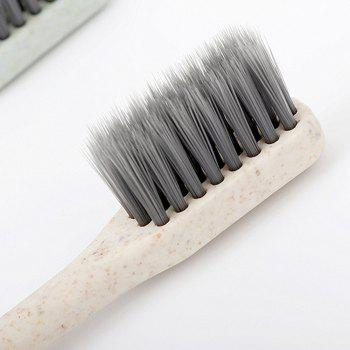 Wheat Biber Bamboo Charcoal Toothbrush10 in1 Packages - multicolorCOLOR