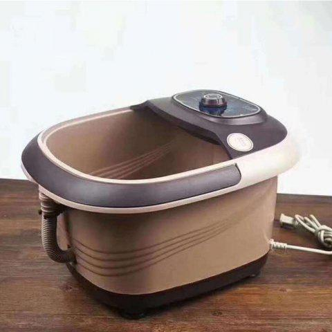 Automatic Heating And Massage Foot Bath Electric Foot Soaking Barrel - BROWN