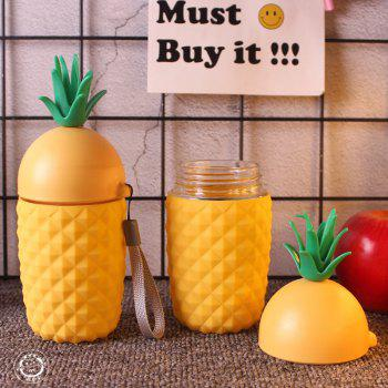 Creative Pineapple Silicone Insulated Cup Portable Lift Rope - YELLOW
