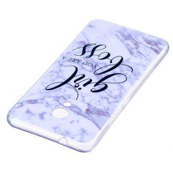 Marbling Phone Case For Meizu M5s / Meilan M5s Case Trend Fashion Soft Silicone TPU Cover Cases Protection Phone Bag - GRAY
