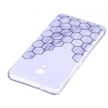 Marbling Phone Case For Meizu M5s / Meilan M5s Case Trend Fashion Soft Silicone TPU Cover Cases Protection Phone Bag - GREY/WHITE
