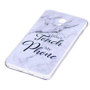 Marbling Phone Case For Meizu M5s / Meilan M5s Case Trend Fashion Soft Silicone TPU Cover Cases Protection Phone Bag - WHITEB