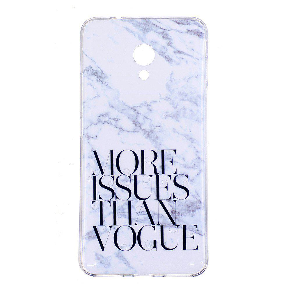 Marbling Phone Case For Meizu M5s / Meilan M5s Case Trend Fashion Soft Silicone TPU Cover Cases Protection Phone Bag - OYSTER