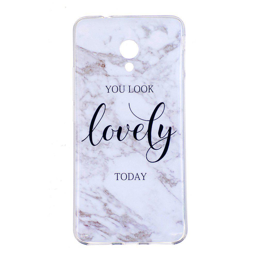 Marbling Phone Case For Meizu M5s / Meilan M5s Case Trend Fashion Soft Silicone TPU Cover Cases Protection Phone Bag - WHITE