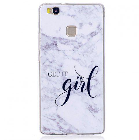 Marbling Phone Case For Huawei P9 Lite Case Trend Fashion Soft Silicone TPU Cover Cases Protection Phone - WHITE