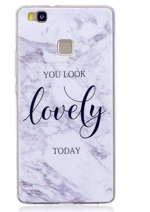 Marbling Phone Case For Huawei P9 Lite Case Trend Fashion Soft Silicone TPU Cover Cases Protection Phone - WHITEB