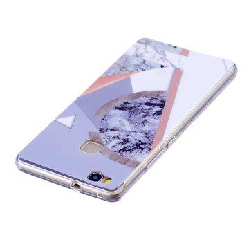 Marbling Phone Case For Huawei P9 Lite Case Trend Fashion Soft Silicone TPU Cover Cases Protection Phone - GRAY