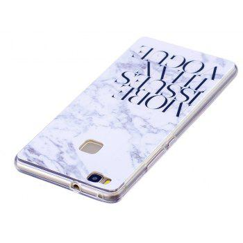 Marbling Phone Case For Huawei P9 Lite Case Trend Fashion Soft Silicone TPU Cover Cases Protection Phone - CHROME