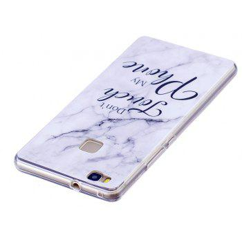Marbling Phone Case For Huawei P9 Lite Case Trend Fashion Soft Silicone TPU Cover Cases Protection Phone - WHITEA
