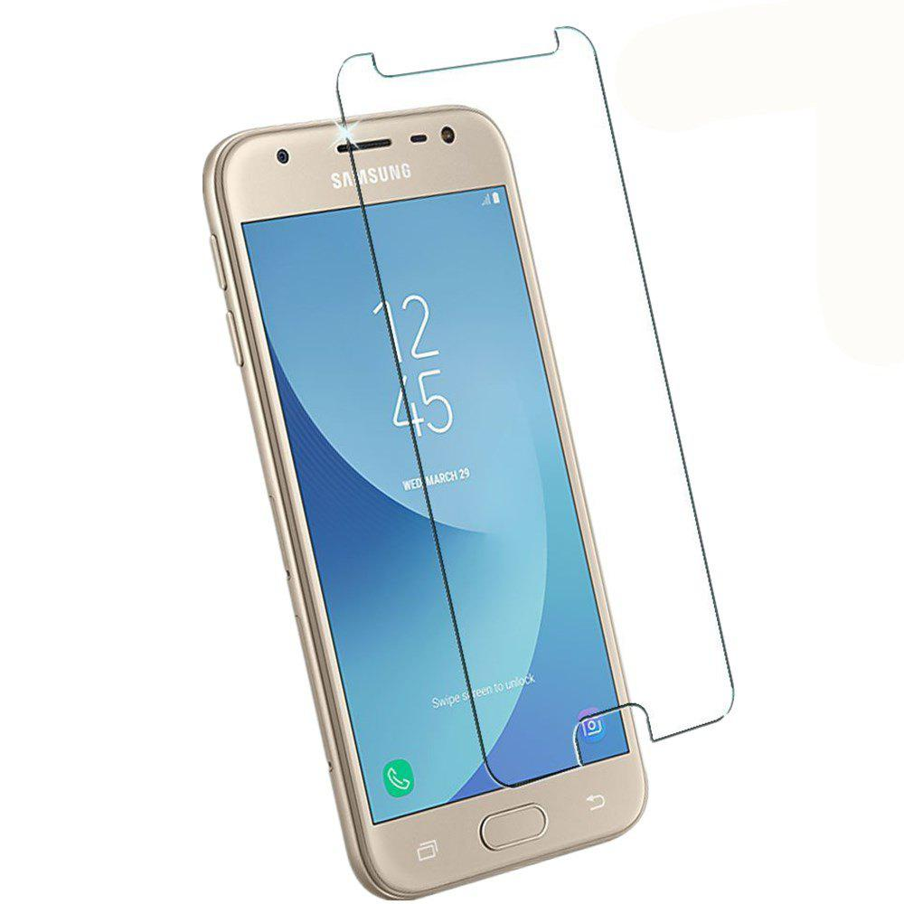 2PCS Screen Protector for Samsung Galaxy J330 High Sensitivit HD Full Coverage High Clear Premium Tempered Glass - TRANSPARENT