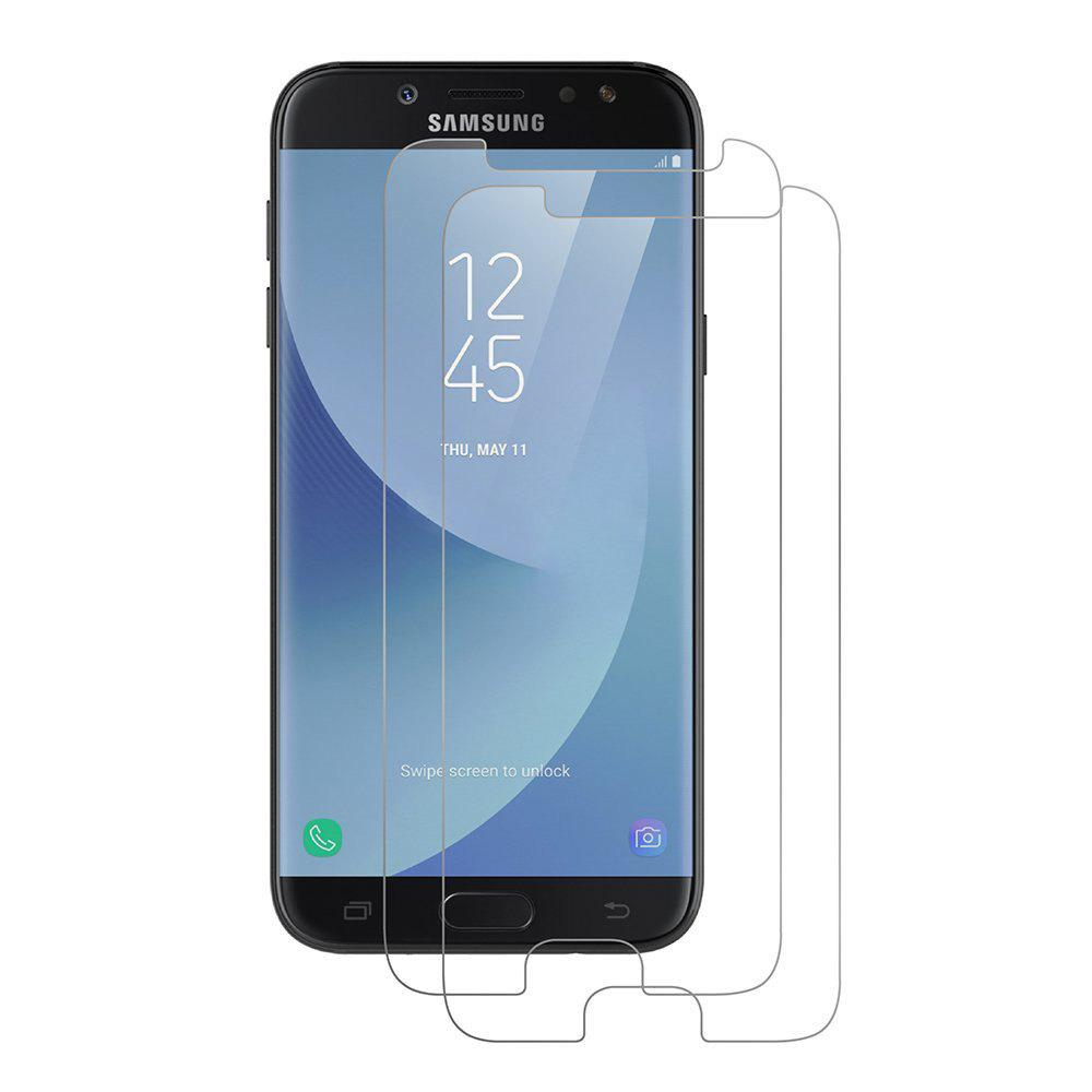 2PCS Screen Protector for Samsung Galaxy J730 High Sensitivit HD Full Coverage High Clear Premium Tempered Glass - TRANSPARENT