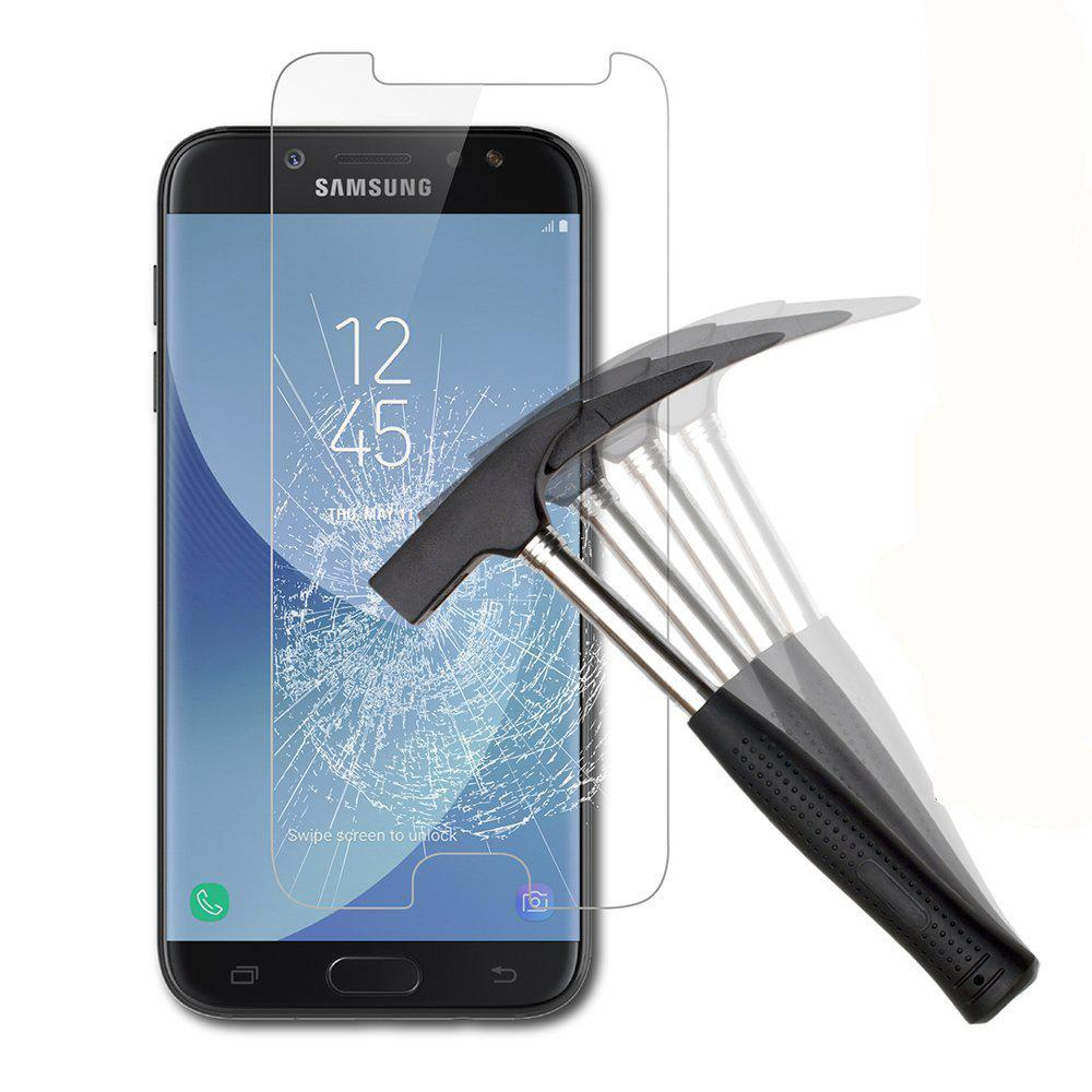 Screen Protector for Samsung Galaxy J730 High Sensitivit HD Full Coverage High Clear Premium Tempered Glass - TRANSPARENT
