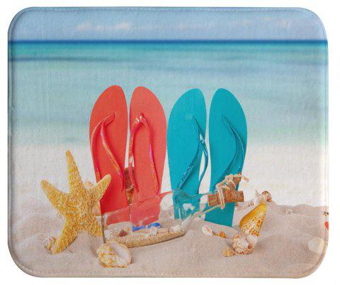 Couple beach shoes Bath Mat Rug Super Soft Non-Slip Machine Washable Quickly Drying Antibacterial For Kitchen - COLORMIX 40X60CM