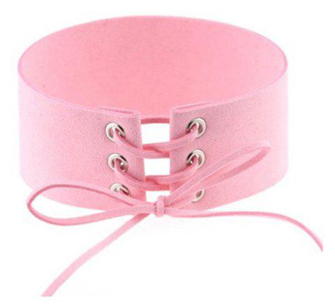 Fashion Contracted Exaggerated Personality Punk Sexy Appeal Bound Collarbinding Neck Chain Clavicle Female Necklace - PINK